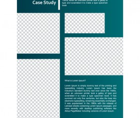 Green styles cover brochure template vectors set 14