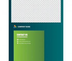 Green styles cover brochure template vectors set 16