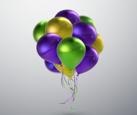 Green with purple and golden balloon background vector 01