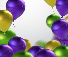 Green with purple and golden balloon background vector 02