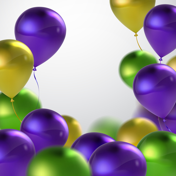 Green with purple and golden balloon background vector 02 ... Purple Happy Holidays Pictures
