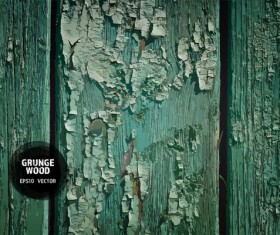 Green wood grunge texture background vector 01