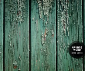 Green wood grunge texture background vector 03