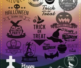 Halloween labels photoshop brushes