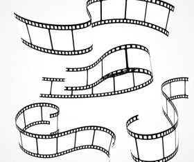 Hand drawn film reel vector 01