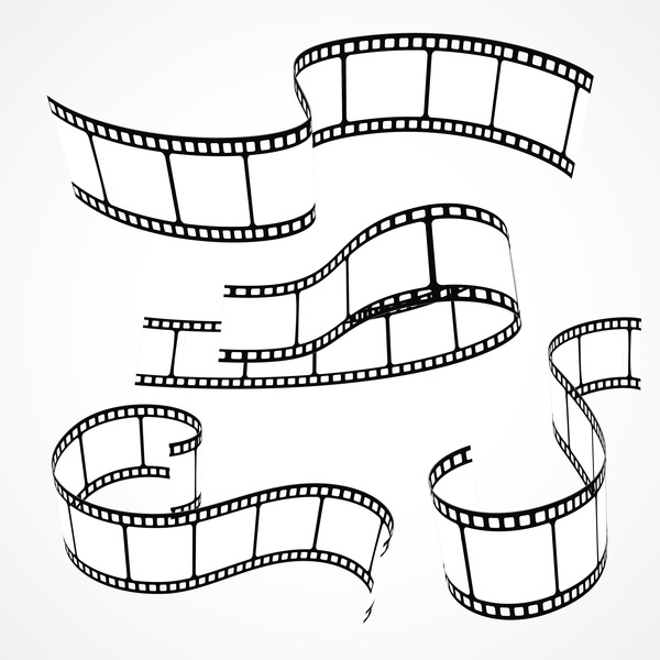 Hand drawn film reel vector 01
