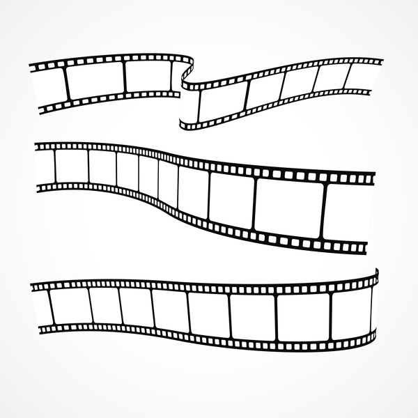 hand drawn film reel vector 02 free download rh freedesignfile com film reel vector image film reel vector black and white