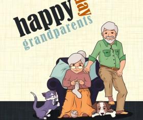 Happy day granparents vector