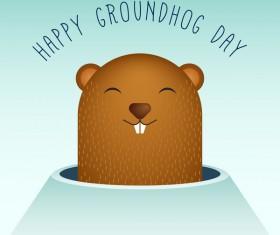 Happy groundhog day cartoon vectors 05