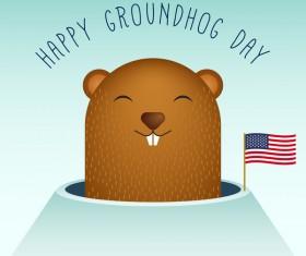 Happy groundhog day cartoon vectors 06