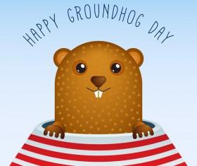 Happy groundhog day cartoon vectors 08