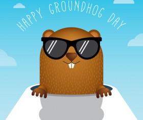 Happy groundhog day cartoon vectors 09