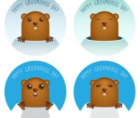 Happy groundhog day cartoon vectors 10
