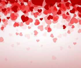 Hearts fly valentine backgrounds vectors material 01
