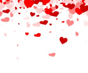 Hearts fly valentine backgrounds vectors material 02