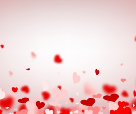 Hearts fly valentine backgrounds vectors material 03