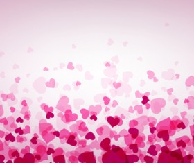 Hearts fly valentine backgrounds vectors material 04