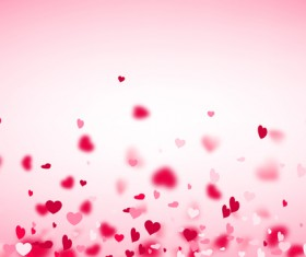 Hearts fly valentine backgrounds vectors material 06