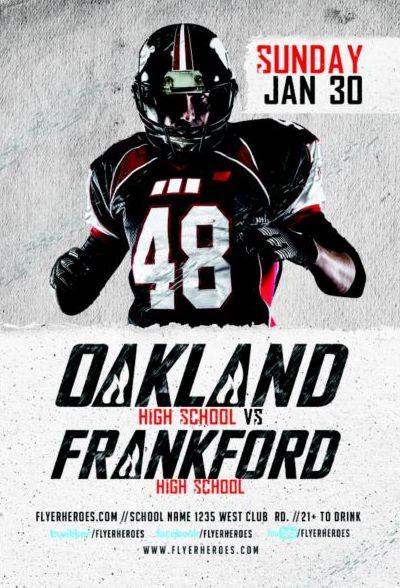 High School Football Flyer Psd Template Free Download