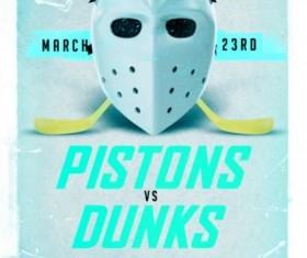 Hockey League Flyer Psd Template