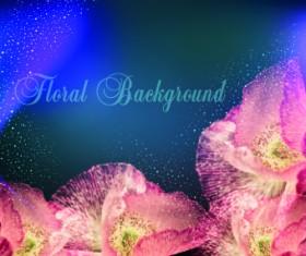 Holiday floral background vectors design
