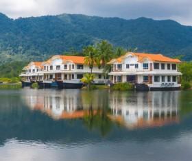 Holiday villa Stock Photo