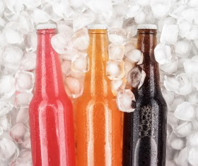 Ice cubes and beer Stock Photo 03