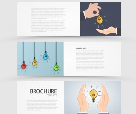 Idea banner business vector design