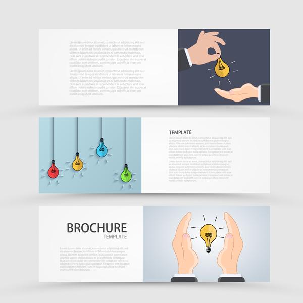 Idea banner business vector design