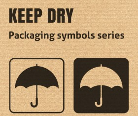 Keep dry packaging icons series vector