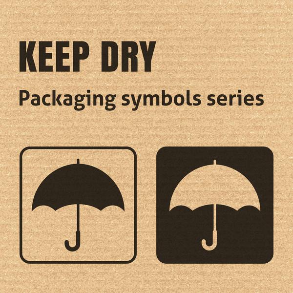 Keep dry packaging icons series vector