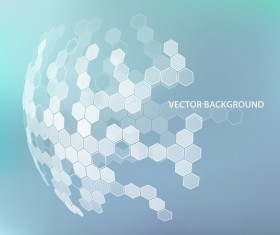 Light color background with hexagonal spherical vector 01