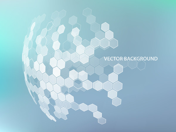 Color Notes Background 01 Vector Free Download: Light Color Background With Hexagonal Spherical Vector 01