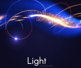 Light effect abstract vector background 02