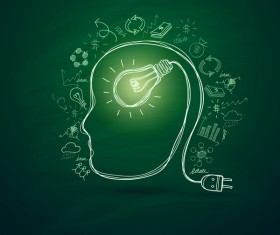 Lightbulb with ideas infographics vector template 01