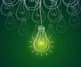 Lightbulb with ideas infographics vector template 04