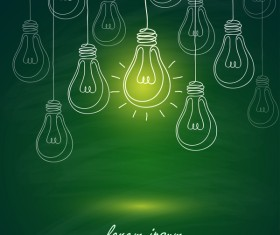 Lightbulb with ideas infographics vector template 08
