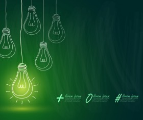 Lightbulb with ideas infographics vector template 11