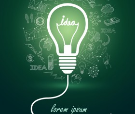 Lightbulb with ideas infographics vector template 16