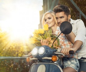 Locomotive of the romantic couple Stock Photo