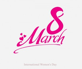 March 8 flat vector template