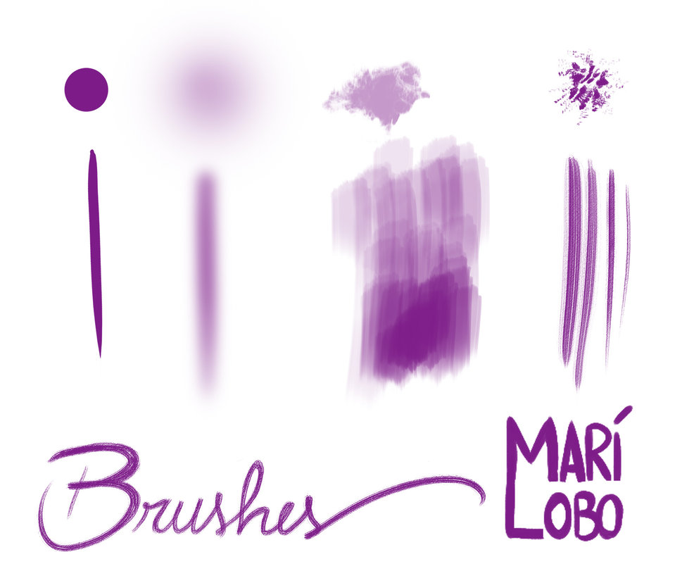 Mari Lobo photoshop brushes