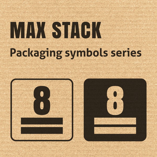 Max stack packaging icons series vector
