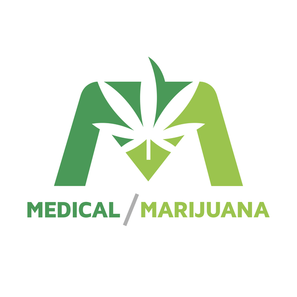 Medical and marijuana logo design vector