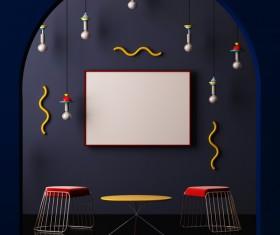 Memphis-style interior decoration Stock Photo 28