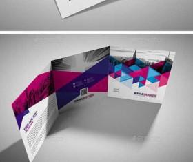 Minimal Square Tri-Fold Brochure PSD Template