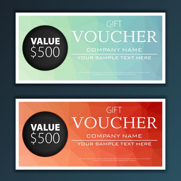 Modern gift voucher template vector 03 free download