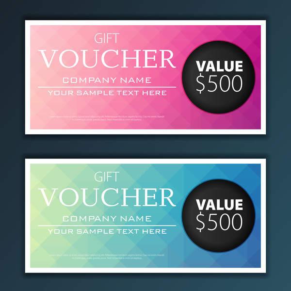 Modern Gift Voucher Template Vector 06 Free Download