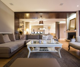 Modern loft with A kitchen and living room Stock Photo 01