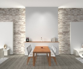 Modern loft with A kitchen and living room Stock Photo 12